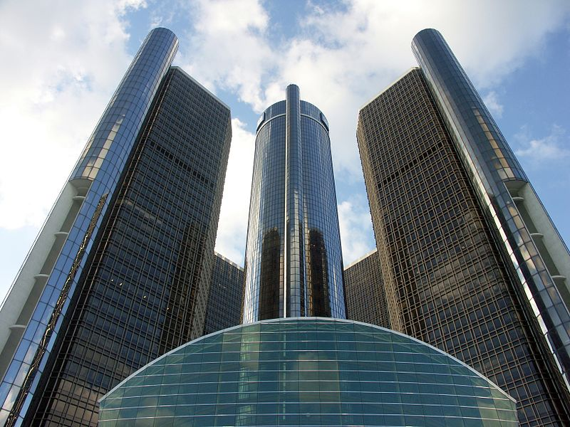 General Motors global headquarters in Detroit - Image from Wikipedia