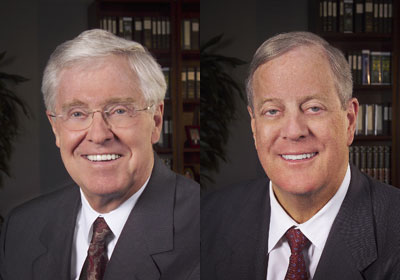 Congress Members Praised for Supporting Koch Brothers
