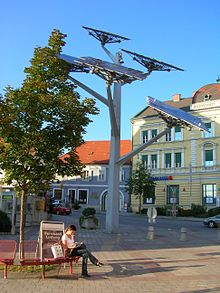"The ""solar tree"", a symbol of Gleisdorf, Austria"