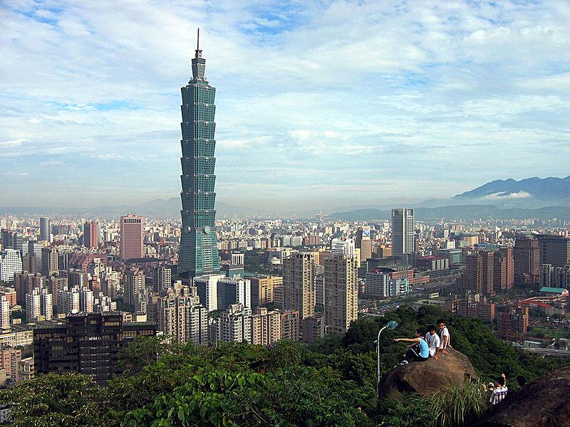 Taipei 101 in the skyline