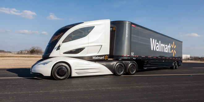 The Walmart Advanced Vehicle Experience concept truck