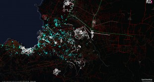 An OpenStreetMap visualization developed following the Haiti earthquake in 2010. Photo by: The World Bank Group